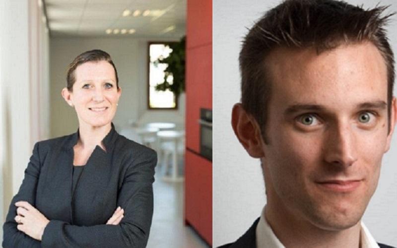 Sven Klijnhout en Meyke Hermsen in dagelijks bestuur